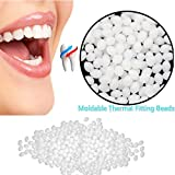 Temporary Tooth Repair Kit Moldable Thermal Fitting Beads for Snap On Instant and Confident Perfect Smile Comfort Fit Flexible Makeover Adhesive Denture Fake Teeth Cosmetic Veneer