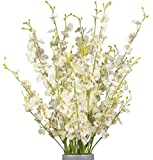WLIXP Artificial Flower Arrangements Silk Orchid 12 Pcs(38'') Fake Orchids for Wedding Home Office Indoor Outdoor, Not Include Vase.