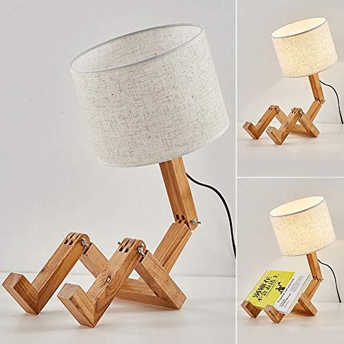 DAXGD Lampade da tavolo, Lampada da scrivania a forma di robot creativo, Lampada da lettura E27 pieghevole per camera da letto, Altezza: 66 cm