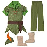 Disney Peter Pan Costume for Boys, Size 7/8 Green