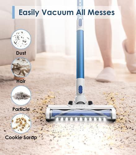 ORFELD Cordless Vacuum Cleaner with 1.4L Big Dustbin, Unique-Design Storage Base Hardwood Floor Vacuum, Cordless Stick Vacuum for Pet Hair 14