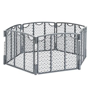 Evenflo Versatile Play Space, Indoor & Outdoor Play Space, Portable, 18.5 Square Feet of Enclosed Space, Cool Gray