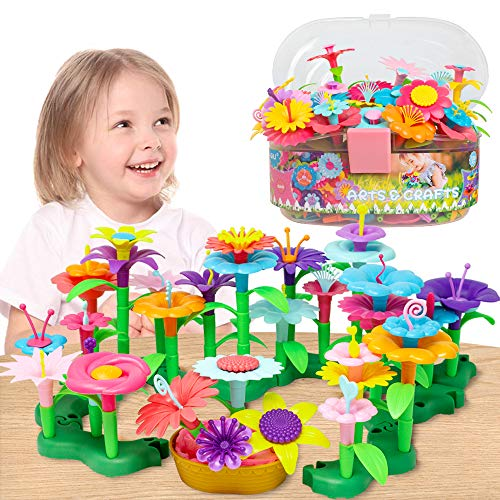 GILI-Flower-Garden-Building-Toys-Build-a-Bouquet-Sets-for-3-4-5-6-Year-Old-Toddler-Girls-Arts-and-Crafts-for-Little-Kids-Age-3yr-Up-Best-Top-Christmas-Birthday-Gifts-for-Creativity-Play-120PCS