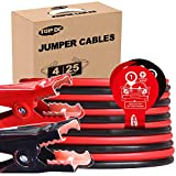 TOPDC Jumper Cables 4 Gauge 25 Feet Heavy Duty Booster Cables with Carry Bag (Or Box) (4AWG x 25Ft)