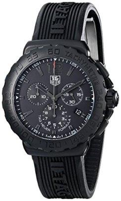 Tag Heuer Men's 'Formula 1' Black Dial Black Rubber Strap Chronograph Watch CAU1114.FT6024