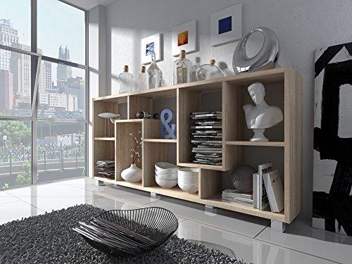 Home Innovation- Scaffale libreria - Divisori design salon-salle pranzo, Rovere Chiaro, dimensioni:...