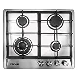 24 inches Stainless Gas Cooktop Built in Gas Stove 4 Burners Gas Stove Cooktop (4 Sealed Burners)...