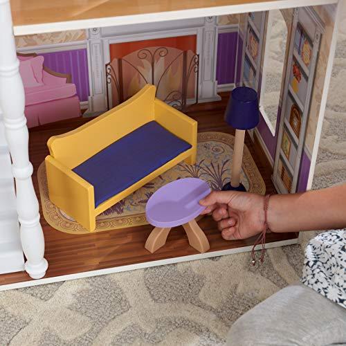 Image 4 - Kidkraft - 65023 - Maison de Poupées en Bois Savannah Incluant Accessoires et Mobilier, 4 Étages de Jeu pour Poupées 30 cm