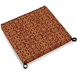 Blazing Needles Patterned Outdoor Spun Polyester Chair Cushion, 20' x 19', Vanya Paprika