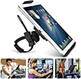 """Abovetek Universal Handlebar Mount for iPad – iPhone - Tablet – Anti-Shock 360 Degree 3.5"""" to 12"""" Expandable Pole Strap Phone Holder Cradle for Indoor Cycling, Gym, Treadmill, Spin Bike, Elliptical"""