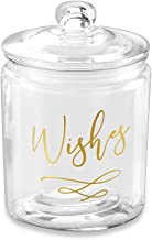 Kate Aspen Wish Heart Shaped Cards Blessing Jar, One Size, gold, white