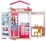 Barbie Mobilier coffret maison 2 étages et 4 pièces avec accessoires et...