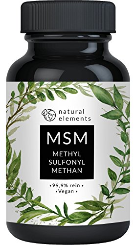 MSM Kapseln - Vergleichssieger 2020* - 365 vegane Kapseln - Laborgeprüft - 1600mg Methylsulfonylmethan (MSM) Pulver pro Tagesdosis - Ohne Magnesiumstearat, hochdosiert, hergestellt in Deutschland