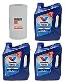 Buyer$ Lair Kit - Dodge Ram 6.7L 2013-18' Diesel Fleetguard Cummins Oil Maintenance Kit - (3) 1-Gal 15W40 Engine Oil & Oil Filter (Bundle of 4)