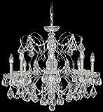 Schonbek 1707-40 Swarovski Lighting Century Chandelier, 24' x 24' x 21.5', Silver