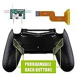eXtremeRate Dawn Programmable Remap Kit pour PS4 Manette Contrôleur avec Mod Chip & Coque Arrière Modifiée & 4 Boutons Arrières-Compatible avec JDM 040 /050/055-Texturé Noir