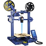 LOTMAXX Shark 3D Printer, Upgrade FDM 3D Printer with Dual Extruder, Laser Engraving & Dual-Color Printing 2 in 1, 95% Pre-Assembled Metal 3D Printer Machine, Print Size 235x235x265mm, Blue