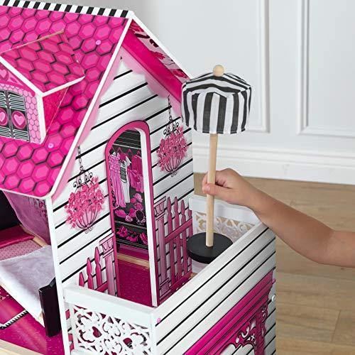 Image 6 - Kidkraft - 65093 - Maison de Poupées en Bois Amelia Incluant Accessoires et Mobilier, 3 Étages de Jeu pour Poupées 30 cm