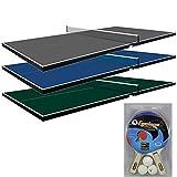 Martin Kilpatrick Ping Pong Table for Billiard Table   Conversion Table Tennis Game Table   Table Tennis Table w/ Warranty   Conversion Top for Pool Table Games   Table Top Games   Ping Pong Table Top, Blue