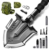 Zune Lotoo Multifunction Outdoor 29.7 Inch Long Stainless Steel Survival Shovel for Camping Hunting with Adjusting Shovel Head