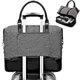 CAMTOP Weekender Travel Bag for Women Ladies Overnight Carry On Tote Duffel Bag with Luggage Sleeve and Shoes Compartment (A-Gray)