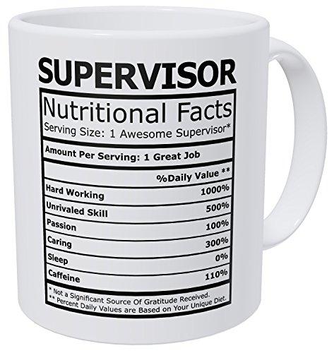 Wampumtuk Supervisor Nutritional Facts Funny Coffee Mug 11...