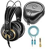 AKG K240 Studio Over-Ear Semi-Open Professional Headphones Bundle with Blucoil 6-FT Headphone...