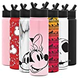 Simple Modern Disney 22oz oz Summit Water Bottle with Straw Lid - Gifts for Men & Women Hydro Vacuum Insulated Flask Double Wall Liter - 18/8 Stainless Steel Disney: Minnie on Blush