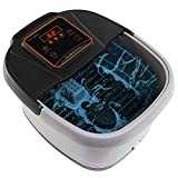 Yosager Portable Foot Spa Bath Massager with Heat, Manual Rolling Massage, LED Display, Temperature Setting,...