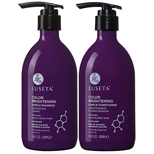 Luseta Purple Shampoo and Conditioner Set for...