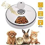 Lacyie Mangeoire Automatique pour Chiens et Chats, Distributeur de Nourriture Automatique pour Animaux de...
