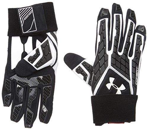 Under Armour Men's Combat V Football Gloves, White/Black, X-Large