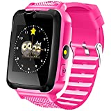Kids Game Smart Watch Phone, 1.54'' HD Girls Wrist Watches Sports Outdoor Watches Children Casual Electronic Digital Touch Wrist Watches with Camera Torch Alarm SOS Walkie-Talkie