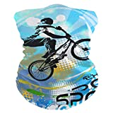 Tarity BMX Rider Face Dust Masks Bandanas Breathable Balaclavas Neck Gaiters Magic Scarf Headwear for Outdoor Cycling Camping Motorcycling Running Sport Festival