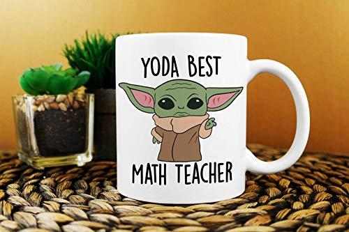 Best Math Teacher Ever, Yoda Best Math Teacher Mug, Birthday...