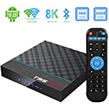 Android 9.0 TV Box, TUREWELL 4GB RAM 32GB ROM T95 Max+ TV Box Amlogic S905X3 Quad-core cortex-A55 Media Player with 8K BT4.0 2.4G/5.0GHz Dual-Band WiFi