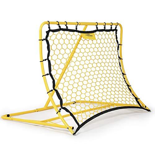 PodiumMax Winkel Einstellbarer Fußball Rebounder Tragbar | Pro Solo Fußball Kick Trainer | 120 x 84 cm | für Übungen und Fußballschuss