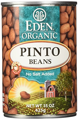 Eden Organic Pinto Beans, No Salt Added, 15-Ounce Cans (Pack of 12)