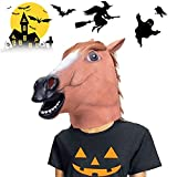 VIVREAL Halloween Head Mask - Horse Head Mask for Halloween Costume Party Decorations, Animal Head Mask Brown Horse for Party Makeup Cosplay Costume, Perfect Addition to Halloween Party