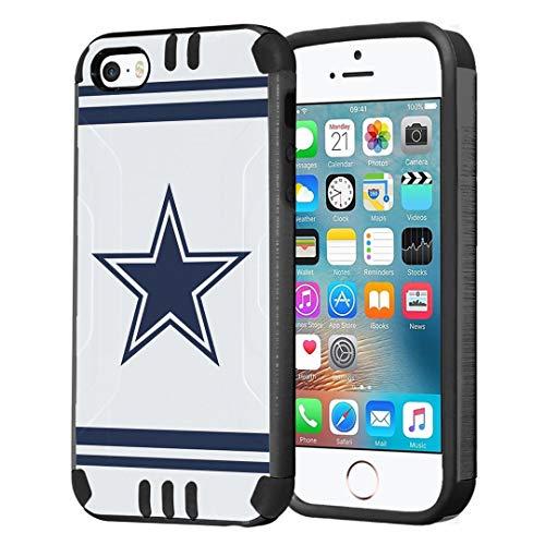 iPhone SE Case, Capsule-Case Hybrid Dual Layer Slim Defender Armor Combat Case (Dark Grey & Black) Brush Texture Finishing for iPhone SE/iPhone 5s / iPhone 5 - (Cowboy)