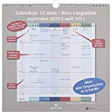 Oberthur - 1 Calendrier d'organisation 12 mois - Septembre 2020 à Août...