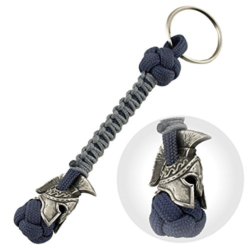 Spartan Paracord Keychain for Men -...