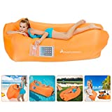 Inflatable Lounger Air Sofa Hammock-Inflatable Couch Air Chair Anti-Air Leaking Pouch Couch with Pillow and Carrying Bag for Outdoor Accessories for Parties,Travel,Camping