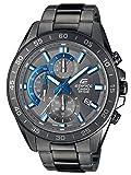 Casio EDIFICE Reloj en caja sólida, 10 BAR, Negro/Azul, para Hombre, con Correa de Acero...