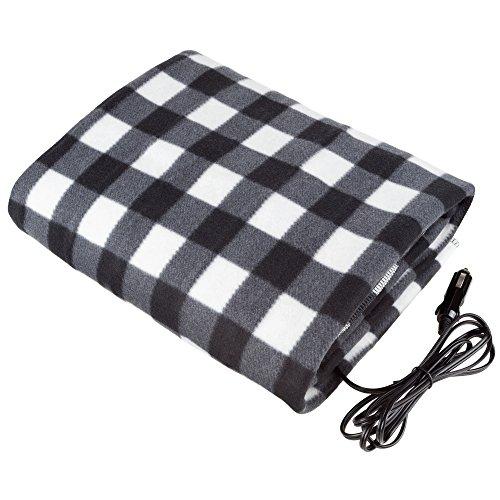 Stalwart - Electric Car Blanket- Heated 12 Volt Fleece Travel...