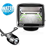 Pyle Backup Car Camera  Rearview Monitor System - Parking and Reverse Assist w/ Waterproof and Night Vision Abilities, 3.5' Monitor Display Screen, Wide Angle Lens & Distance Scale Lines - (PLCM32)