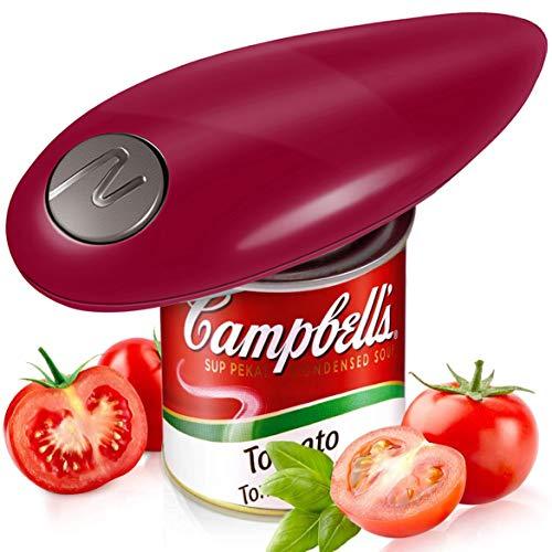 Dosenöffner, elektrisch, handfrei, für Restaurant-Küche, ergonomisches Design, für manuelle Arbeit, für Senioren-Arthritis, Heim-Gadget (rot)
