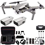 DJI Mavic Pro Platinum with Extra Battery, Flagship 4K Quadcopter Drone with 30 Mins Flight Time, 7...