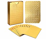 EAY Playing Cards Luxury Waterproof 24K Gold Diamond Foil Poker Carta, Gold Playing Cards, Deck of Cards, Plastic Playing Cards, Waterproof Deck Cards