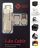 i-an Cable for SK UO Smart Beam Portable Mini Projector, Compatible with iPhone/iPad/Androids